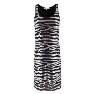 Michael Michael Kors Sequin Zebra Print Dress
