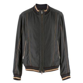 La Griffe Ausoni Black Bomber Jacket