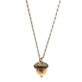 Tory Burch Gold Toned Acorn Necklace