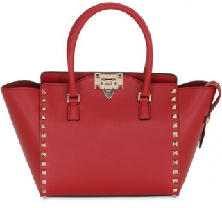 Valentino Red Rockstud Tote Bag
