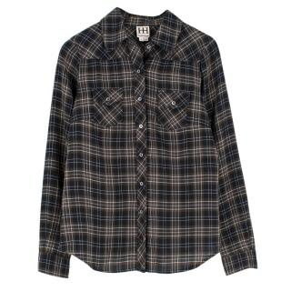 Haute Hippie Studded Plaid Shirt