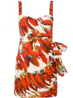 Dolce and Gabbana Chilli Print Mini Dress