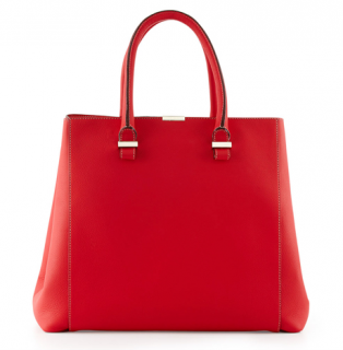 Victoria Beckham Red Quincy Shopper Tote
