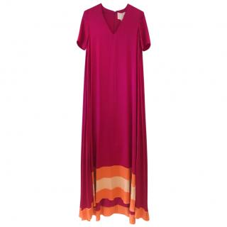 Roksanda Lindal Block-Hem Silk Dress