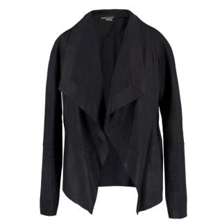 Vince Leather Waterfall Jacket
