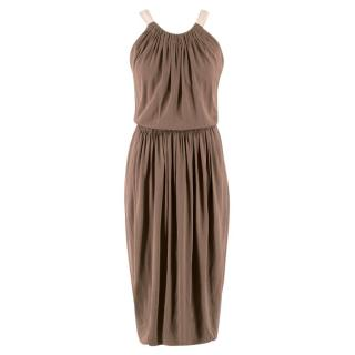 Marc Jacobs Silk Draped Midi Dress