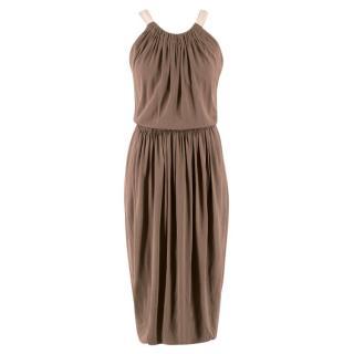 Marc Jacobs Silk Draped Midi Dress