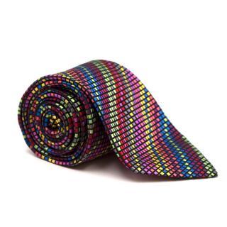 Duchamp Silk Multicoloured Checked Tie