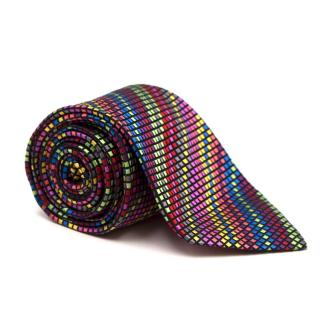 Duchamp Silk Multicoloured Checked Tie