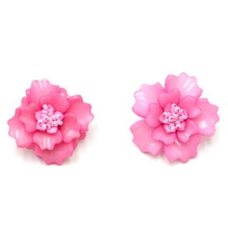 Mochi Pink Gardenia Earrings