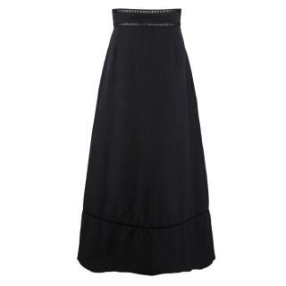 Isabel Marant Black A-line Maxi Skirt