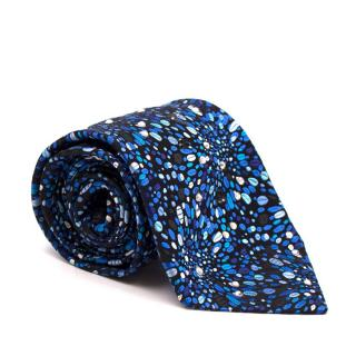 Duchamp Blue Abstract Pattern Crystal Tie
