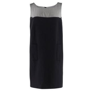 Andrew Gn Black Wool Mini Dress