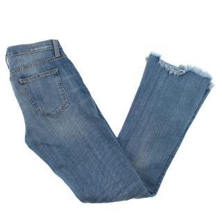 Current Elliot Frayed Hem Bootcut Jeans