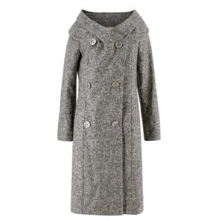 Michael Kors Grey Wool Longline Coat