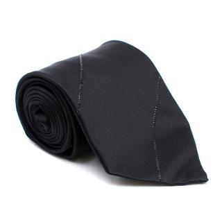 Stefano Ricci Black Crystal Stripe Tie