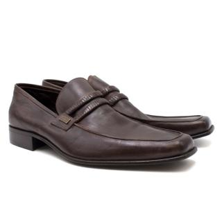 Cesare Paciotti Dark Brown Leather Loafers