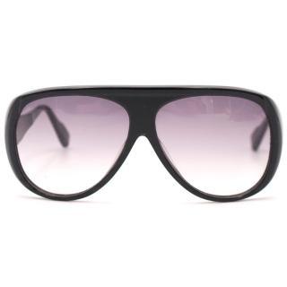DITA Oversized Black Aviator Sunglasses
