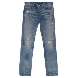 Ralph Lauren Blue Distressed Boot Cut Jeans