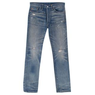 Ralph Lauren Blue Distressed Boot Cut Jeans