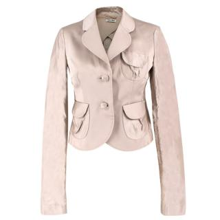 Miu Miu Beige Tailored Jacket