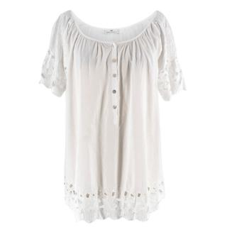 DAY Birger Et Mikkelsen White Embroidered Tunic