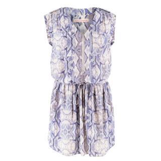 Rebecca Taylor Patterned Silk Mini Dress