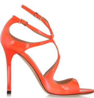 Jimmy Choo Lang Neon Patent Sandals