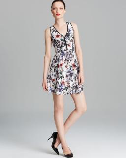 Rebecca Taylor Floral-Print Sleeveless Dress