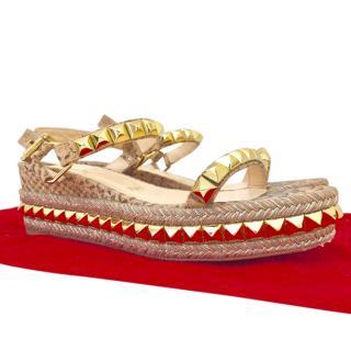 Christian Louboutin Cataclou 60mm Espadrille Sandals