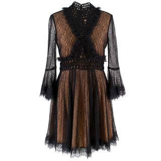 Jonathan Simkhai Sheer Lace Crochet Mini Dress