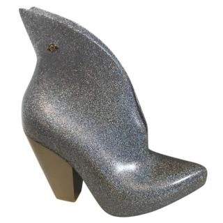 Vivienne Westwood X Melissa Silver Boots