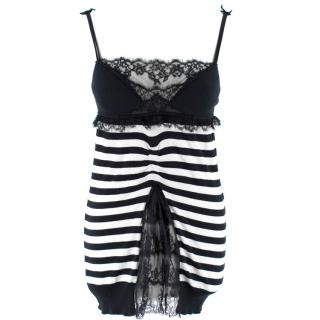 Ermanno Scervino Lace Striped Top