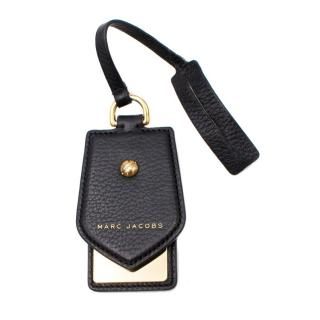 Marc Jacobs Black Leather Gold Toned Key Ring