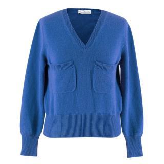 Margherita Girl's Blue Cashmere Sweater