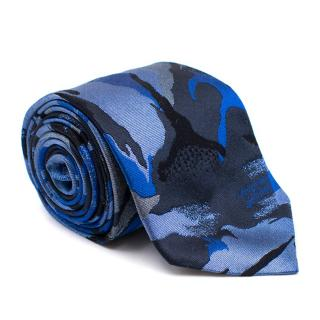 Richard James Blue Khaki Silk Tie