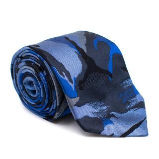 Richard James Blue Khaki Silk Tie