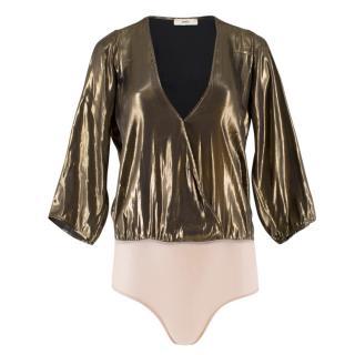 Egrey Metallic Gold Bodysuit