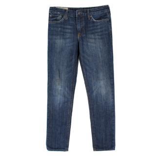 Ralph Lauren Mid Wash Vintage High Waist Straight Jeans