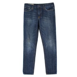 Ralph Lauren Mid Wash Vintage High Waist Straight Jeans