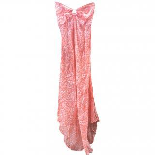Melissa Odabash Silk Strapless Maxi Dress
