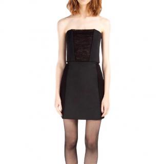 Maje Black Strapless Mini Dress