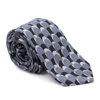 Prada 5cm Silk Skinny Printed Tie