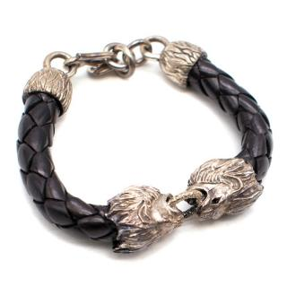 Ada Wnment Lion Heads Bracelet