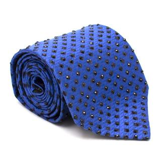 Paul Smith Blue Crystal Silk Tie