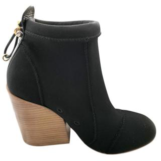 Chloe Block Heeled Stretch Ankle Boots