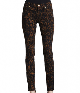 7 for all Mankind skinny leopard print jeans