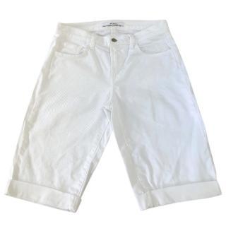 J Brand white demin shorts