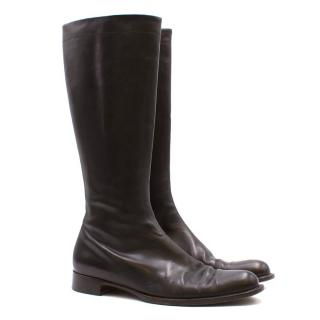Jil Sanders Brown Leather Boots