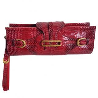 Jimmy Choo Ciggy Snakeskin clutch